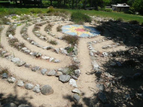 Stone and herb labyrinth, Bishop's Ranch, Healdsburg CA